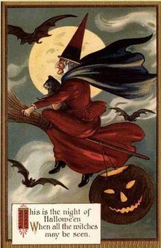Halloween vintage art