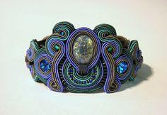 Azul blue bracelet by Dori Csengeri. #DoriCsengeri #bracelet #cuff #blue