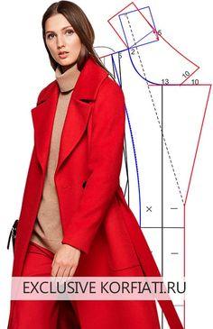 Выкройка пальто без вытачек