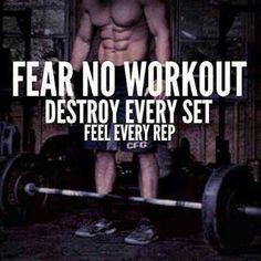 Feel it! Destroy it #workout #Diet #cardio #weightlost #Stayinshape #PersonalTrainer