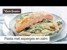 Pasta met asperge en krokante zalm - Leuke recepten