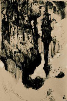 #drawing #sketch #dessin #art #arte #dibujo #esbozo #citeindustrielle #XIXthcentury