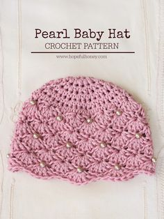 Hopeful Honey | Craft, Crochet, Create: Vintage Pearl Baby Hat - Free Crochet Pattern