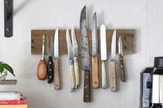Create Your Own Rustic Wall Rack to Display Knives Tutorial | eHow