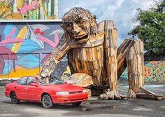 Thomas Dambo sculpture in Puerto Rico (LP)