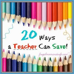Frugal Mom and Wife: 20 Ways a Teacher Can Save! Love Teacher, Teacher Librarian, Paper Supplies, Craft Supplies, Discounts For Teachers, School Id, Price Book, Frugal Tips, Business Website