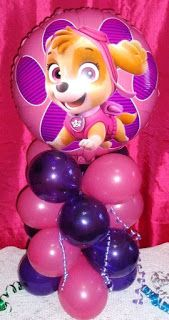 GBP – Foil Balloon Table Display Birthday Party Paw Patrol Skye & Everest Air Fill & Garden - Decoration For Home Paw Patrol Party Decorations, Birthday Party Decorations, Birthday Parties, Paw Patrol Centerpieces, 3rd Birthday, Birthday Ideas, Girl Paw Patrol Party, Paw Patrol Birthday Girl, Skye Paw Patrol Cake