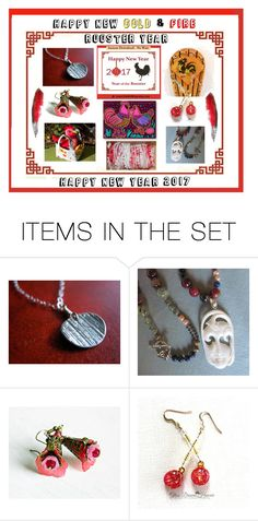 """Happy New Rooster Year"" by owlartshop ❤ liked on Polyvore featuring art, integrityTT, EtsySpecialT and 2017Rooster"