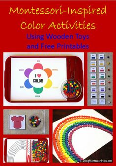 Montessori-Inspired Color Activities Using Wooden Toys and Free Printables (includes links to lots of free printables focusing on colors)