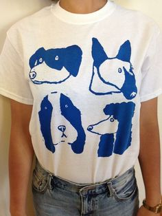 Hand screenprinted T-shirt Dog Days by Zaffrefig on Etsy Love Shirt, Simple T Shirt, T Shirt Art, Screen Printing Shirts, Oui Oui, Mode Inspiration, Journal Inspiration, Graphic Tees, Shirt Designs