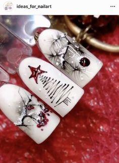 Galaxy Makeup Art - Beauty Experte - Space Everything Xmas Nail Art, Xmas Nails, Christmas Nail Art Designs, Winter Nail Designs, Holiday Nails, Christmas Nails, Christmas Lights, Christmas Decor, Christmas Wreaths