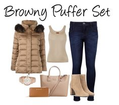 """""""Browny Puffer"""" by damz-queen ❤ liked on Polyvore featuring Levi's, Missoni, MANGO, Yves Saint Laurent, Anne Klein, MICHAEL Michael Kors, Hetregó and puffers"""