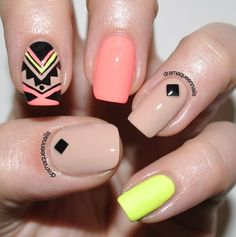 Aztec Nail Designs Ideas 89 impressive aztec nail art ideas for people who long for a Aztec Nail Designs. Here is Aztec Nail Designs Ideas for you. Aztec Nail Designs 89 impressive aztec nail art ideas for people who long for a. Aztec Nail Designs, Short Nail Designs, Nail Art Designs, Nails Design, Love Nails, How To Do Nails, Pretty Nails, Ongles Beiges, Design Ongles Courts