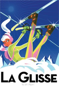 richard zielenkiewicz monsieur z Ski Vintage, Vintage Ski Posters, Look Vintage, Vintage Images, Graphic Design Print, Snow Skiing, Vintage Advertisements, Illustrations Posters, Illustrators