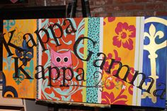 Hand Painted ~Kappa Kappa Gamma~ a great way to personalize