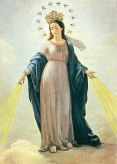 """Nossa Senhora Dos Milagresz; """"our lady of miracles"""" symbolized by milk, her themes are miracles, wishes, meditation."""