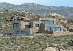 Sea and mountains view stone house for sale in Karystos, Euboea, Greece.