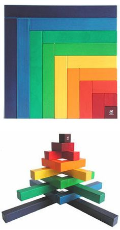 Naef Angular Wooden Puzzle Block Toy Deluxe wooden Naef toy, made in Switzerland.