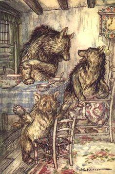 Goldilocks (The Story of the Three Bears). The Arthur Rackham Fairy Book: 1933.