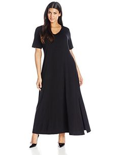 Karen Kane Women's Plus-Size V Neck T Shirt Dress, Black, 0X Karen Kane http://www.amazon.com/dp/B00R33TX50/ref=cm_sw_r_pi_dp_-mj.ub1GSEMAE