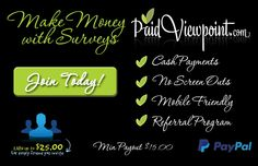 Great survey sites with quick and easy surveys. Cash out to PayPal.