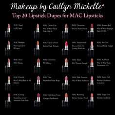 MAC lipstick dupes - Makeup by Caitlyn Michelle