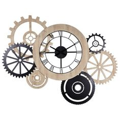Horloge bicolore L.145cm HIPSTER