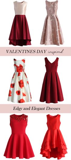 Valentines Day inspired dresses. Edgy and Elegant. chicwish.com