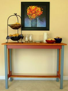 How to Build a Buffet Table >> http://www.diynetwork.com/how-to/How-to-Build-a-Hall-Table/index.html?soc=pinterest