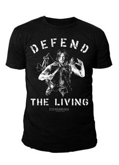 The Walking Dead - Herren T-Shirt - Dixon Defend (Schwarz) (S-XL) (L)