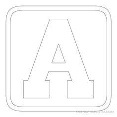 block lettering templates