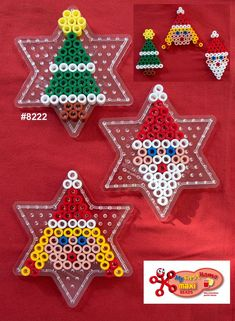 Inspiration for playing with Hama Beads Hama Beads Design, Diy Perler Beads, Hama Beads Patterns, Beading Patterns, Hama Beads Coasters, Perler Bead Designs, Bead Embroidery Patterns, Christmas Crafts For Kids, Xmas Crafts