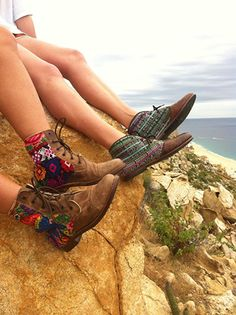 Livin on the edge in out Teysha Guate Boots! #Empower