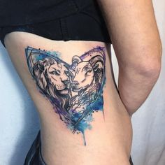 original tatoo lion goat hearth zdenka vyhlidkova czech republic