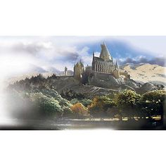 nEw HOGWARTS CASTLE Large Prepasted WALL MURAL - Harry Potter Wallpaper Decor.  Would live this for Tylers room