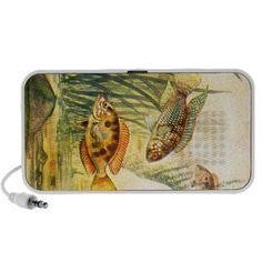 Vintage Restored Fish iPod Speakers