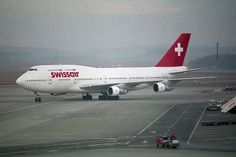 swissair corporate branding visual graphic identity - B747-3