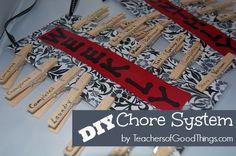 DIY Chore System www.teachersofgoo... Easy to make and fun to do!