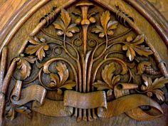 carved door detail