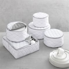 Dinnerware Storage Set - Crate and Barrel : dinnerware storage cases - pezcame.com