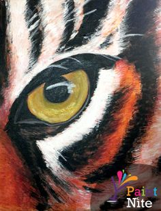 Eye of the Tiger at Pappas Grill - Greek Town* - Paint Nite Events