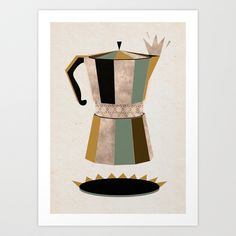 Late Nigh Coffee for every cafeine addict like me. Our art prints available at @Society6 www.society6.com/kata_illustration #society6 #coffee #cafe #artprint #illustration #mocca #coffeetime...