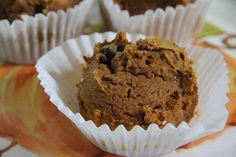 3 Ingredient Pumpkin-Chocolate Chip Muffins - I filled my muffin liners a little fuller than recommended and baked for 25 minutes instead of fifteen...also I did 3 dozen at once, so that might have made a difference! SO moist and delicious!