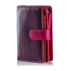 Visconti dámská kožená peněženka RAINBOW RB51 švestková - MANIEGO Summer Fashion Outfits, Vintage Style Outfits, Wallets For Women, Purse Wallet, Soft Leather, Purses, Lady, Stuff To Buy, Color