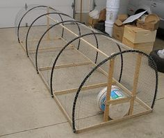 Living the Frugal Life: The Poultry Schooner... Inexpensive idea for a chicken run in the yard