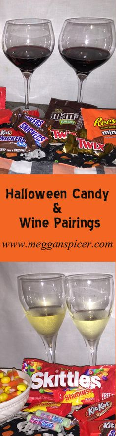 Did you raid your kid's trick or treat bag?  Well if you survived Halloween, you probably deserve an adult beverage so combine these two treats with wine and candy pairing options.  Check out my latest YouTube video where I share some of the pairings I tried and my favorites.  Not a vino drinker?  There's something for you too.  YouTube Video Link:  https://youtu.be/loh1dexiuS4   www.MegganSpicer.com  @megganspicer  www.pinterest.com/megganspicer