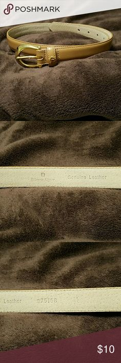 Etienne Aigner tan belt Etienne Aigner tan belt.  Length is 35 inches.  Genuine leather.  In great used condition. Etienne Aigner Accessories Belts