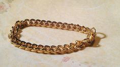 Golden Chain Bracelet by amyrigs on Etsy