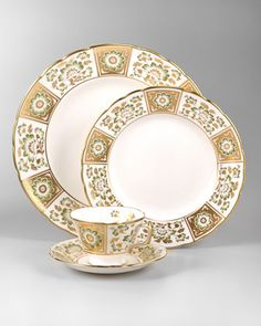 Derby Panel Dinnerware by Royal Crown Derby at Neiman Marcus.