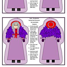Celia Red Hat Society Cut and Sew Doll fabric by lworiginals on Spoonflower - custom fabric by Linda Walsh